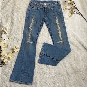 True Religion flair distressed jeans